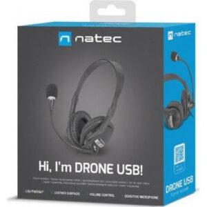 Cuffie Natec Drone USB con Microfono